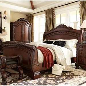 Signature Design by Ashley B553-09 North Shore Large Upholstered Bedroom Bench, Brown