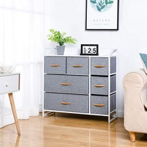 Kamiler 7-Drawer Dresser, 3-Tier Storage Organizer, Tower Unit for Bedroom