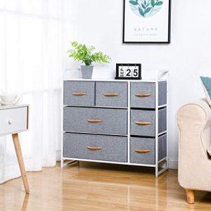Kamiler 7-Drawer Dresser, 3-Tier Storage Organizer, Tower Unit for Bedroom