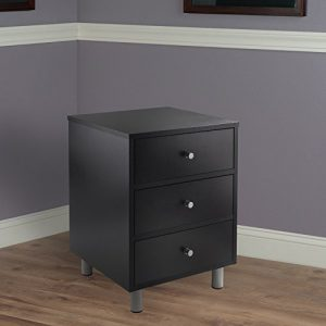 Winsome Daniel Night Stand, Black