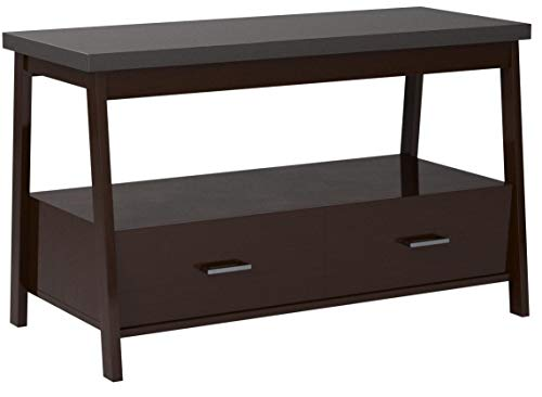 """Mainstays Logan TV Stand For Flat Screen TVs up to 47"""" and up to 50 lbs. (Espresso)"""