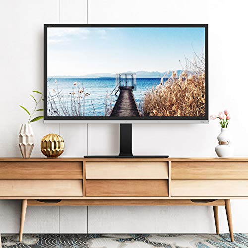 TAVR Universal Swivel TV Stand Base Tabletop TV Stand for 50-80 inch LCD LED Flat Screen TV,6 Level Height Adjustable TV Mount Stand with Tempered Glass Base,Hold up to 110Lbs,Max VESA 600x400mm