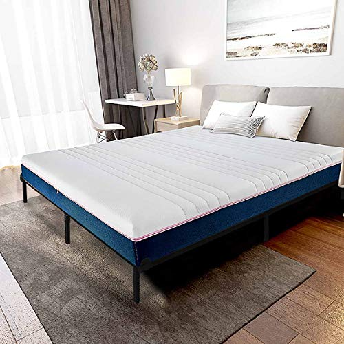 HAAGEEP Queen Size Bed Frame for Box Spring and Mattress Set Adjustable Full Beds King Frames Metal Bedframe Support