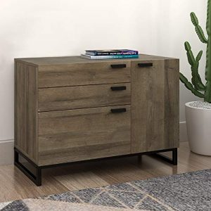 WLIVE Wide Dresser with 3 Drawers and 1 Side Cabinet, Storage Drawer Chest