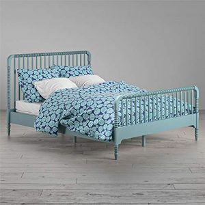 Little Seeds Rowan Valley Linden Kids' Full Size Teal Bedframe Platform,