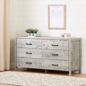 South Shore Gravity 6-Drawer Double Dresser, Seaside Pine