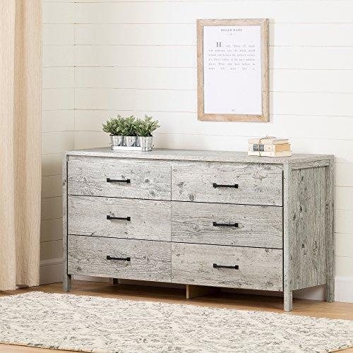 South Shore Gravity 6-Drawer Double Dresser, Seaside Pine