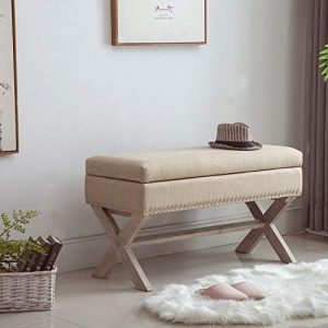 Fabric Storage Bedroom Bench Seat for End of Bed, Upholstered 36 inch