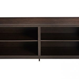 "Rockpoint Plymouth Wood TV Stand Storage Console, 58"", Mahogany Brown"