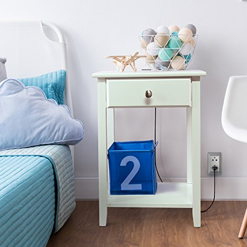 Casual Home Owl White Night Stand