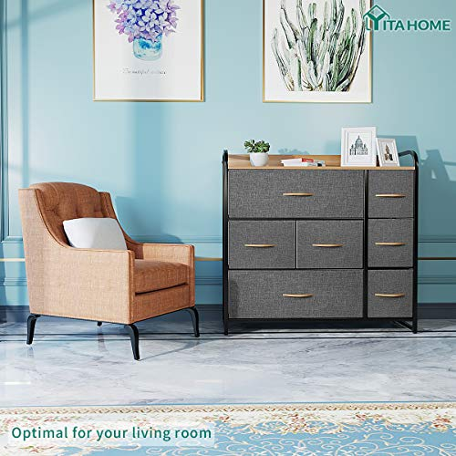 YITAHOME Dresser with 7 Drawers - Fabric Storage Tower