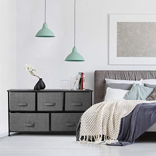 5 Drawer Dresser Organizer Fabric Storage Chest for Bedroom, Hallway, Entryway