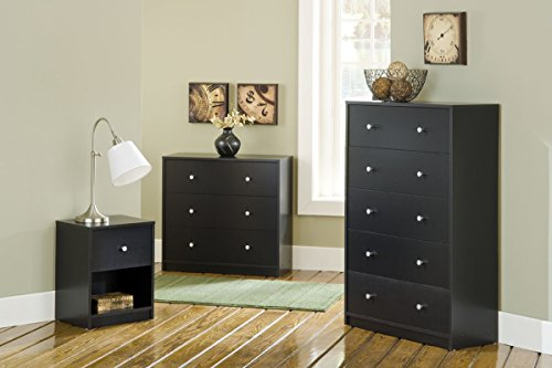 Tvilum Portland 1 Drawer Nightstand, Black   One drawer and open shelf Excessive drawer sides Clear look Plastic pewter coloured drawer knobs provide a pleasant accent Comprised of engineered wooden Made in Denmark Scandinavian look and design   The Portland bed room nightstand provides a easy however fashionable decor to your bed room furnishings assortment. It's constructed of engineered wooden with laminated end. The night time stand features a drawer on the Backside. Its glossy design makes an ideal steadiness between your room's type and performance. You possibly can complement this drawer night time stand with different items of furnishings from this assortment.