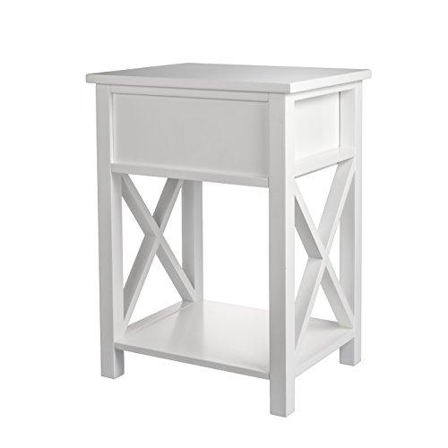 MAGIC UNION X-Design Side End Table Night Stand Storage Shelf