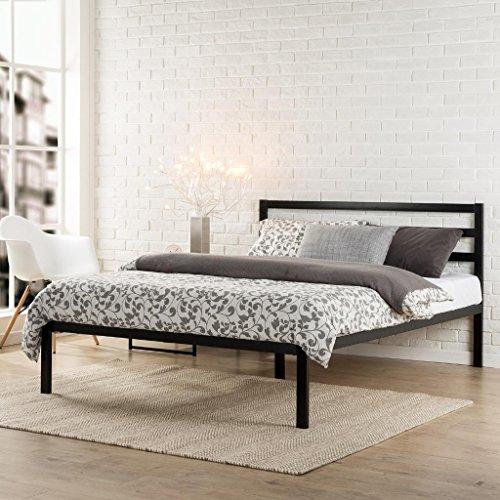 Zinus Mia Modern Studio 14 Inch Platform 1500H Metal Bed Frame / Mattress Foundation / Wooden Slat Support / With Headboard / Good Design Award Winner, Queen