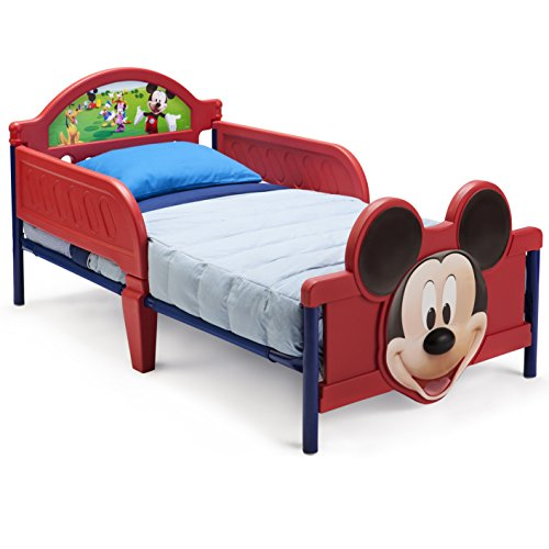 Delta Children 3D-Footboard Toddler Bed, Disney Mickey Mouse