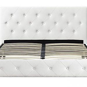 DHP Dakota Upholstered Faux Leather Platform Bed with Wooden Slat Support