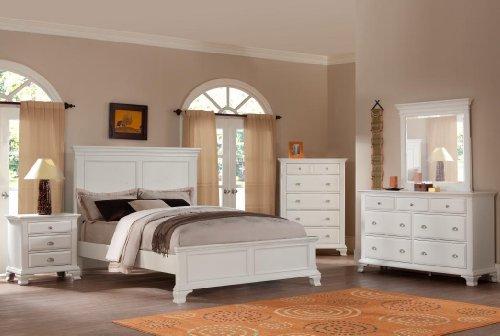 Roundhill Furniture Laveno 012 White Wood Bedroom Furniture Set