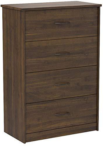 Mainstays 4-Drawer Dresser, (4-Drawer, Canyon Walnut, Handi Wipes)