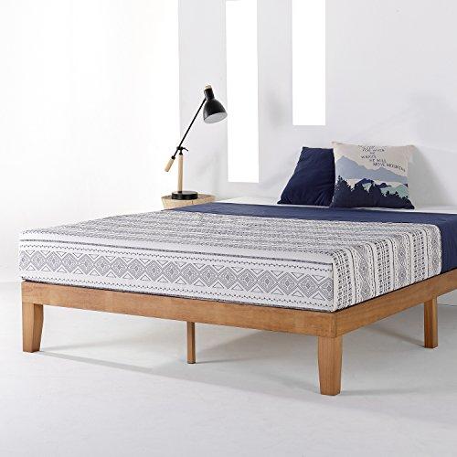 "Best Price Mattress Full Bed Frame, 12"" Soild Wood Platform Bed Frame w/Classic Wooden Slat (No Box Spring Needed), Pine, Full Size"