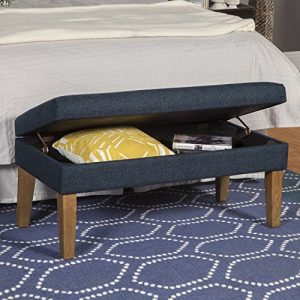 HomePop Modern Storage Bench with Hinged Lid
