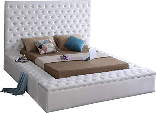 Meridian Furniture BlissWhite-Q Bliss Collection Modern | Contemporary Velvet