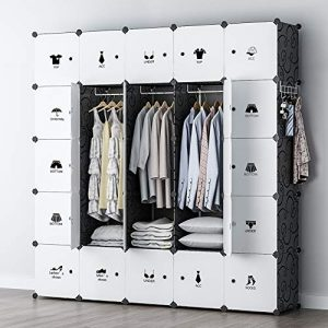 YOZO Modular Wardrobe Portable Clothes Closet Chest Drawer Polyresin Storage