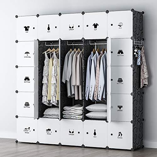 YOZO Modular Wardrobe Portable Clothes Closet Chest Drawer Polyresin Storage