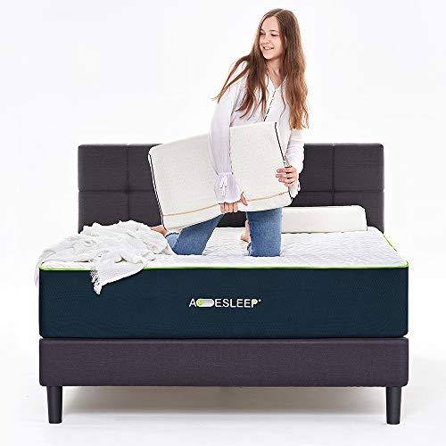 Acesleep 12 Inch Gel & Bamboo Charcoal Memory Foam Mattress King, Medium Soft, Sleep Cool, Adjustable Bed Frame Friendly, CertiPUR-US Certified,120 Day Free Return, 20 Year Warranty