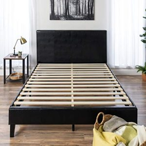 Best Choice Products Modern Queen Size Faux Leather Platform Bed Frame