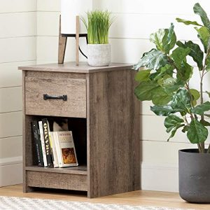 South Shore Tassio 1-Drawer Nightstand-Weathered Oak