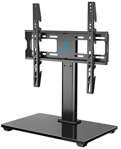 PERLESMITH Swivel Universal TV Stand / Base - Table Top TV Stand for 32-55 inch LCD PERLESMITH Swivel Universal TV Stand / Base - Table Top TV Stand for 32-55 inch LCD LED TVs - Height Adjustable TV Mount Stand with Tempered Glass Base, VESA 400x400mm, Holds up to 88lbs