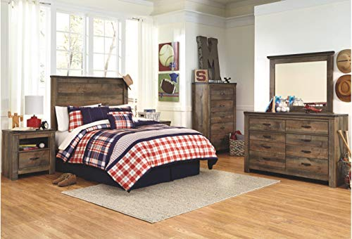 Ashley Furniture Signature Design - Trinell Full Panel Headboard - Component Piece - Brown