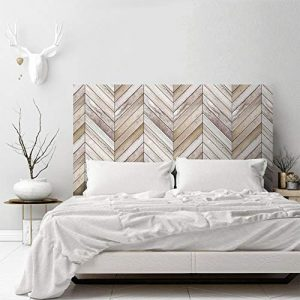 AMAZING WALL 3D Arrow Wood Grain Headboard Sticker Bedroom Self Adhesive