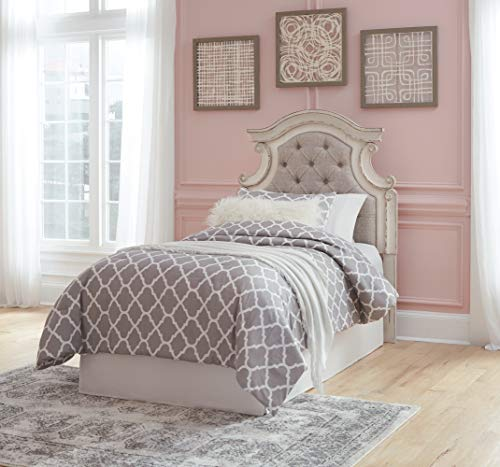 Signature Design By Ashley - Realyn Twin Upholstered Panel Headboard