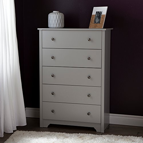 South Shore Vito 5-Drawer Chest, Soft Gray