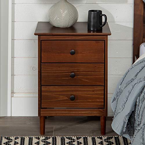 Walker Edison Furniture Company Traditional Wood 1 Nightstand Side Bedroom