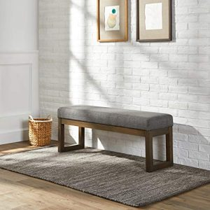 Red Hook Leda Rectangular Ottoman Bench with Fabric Upholstery