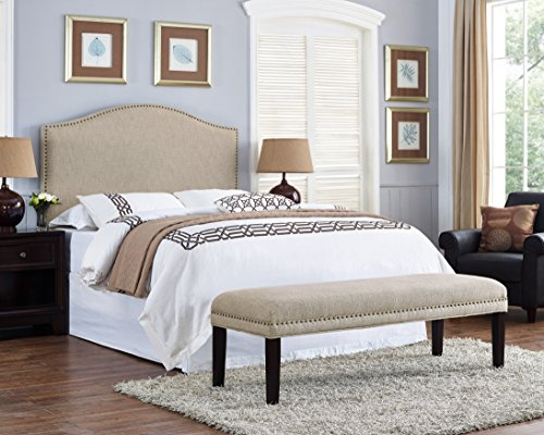 Pulaski Selma Upholstered Bed Benches, Queen, beige