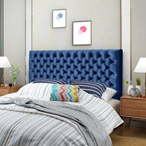 Christopher Knight Home Jezebel Headboard, Navy Blue and Black Steel