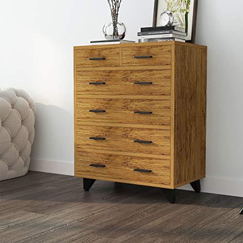 SDHYL Standing Dresser 6 Drawers Storage Cabinet Chest Organizer for Bedroom