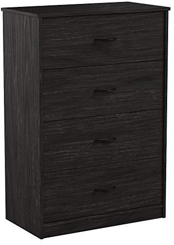 Mainstays 4-Drawer Dresser, Black Oak