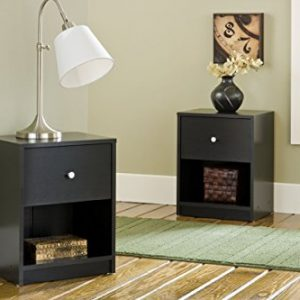 Tvilum Portland 1 Drawer Nightstand, Black