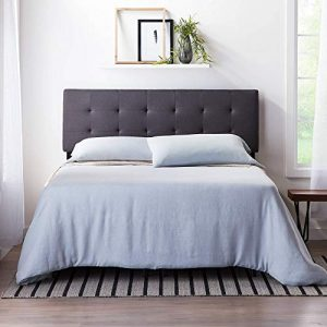 LUCID Square Tufted Mid Rise Adjustable Height Headboard, King/Cal King