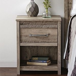 Ameriwood Home Bassinger Nightstand, Gray Oak