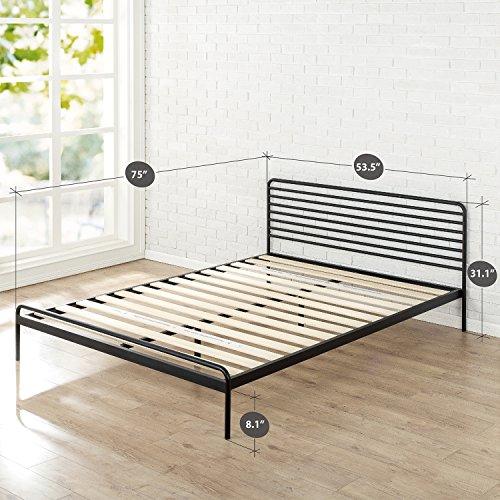 Zinus Tom Metal Platform Bed Frame / Mattress Foundation / No Box Spring Needed / Wood Slat Support / Design Award Winner, Full