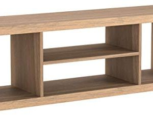 Generic- Cross Mill TV Stand (Rustic Oak, 47.24 x 15.75 x 19.09 Inches)