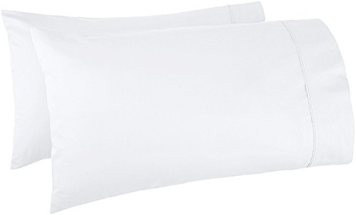 Thread Spread 100% Egyptian Cotton 1000 Thread Count Ultra Soft Pillow Case Set - Durable and Silky Soft (Queen Size Pillowcase) (White)