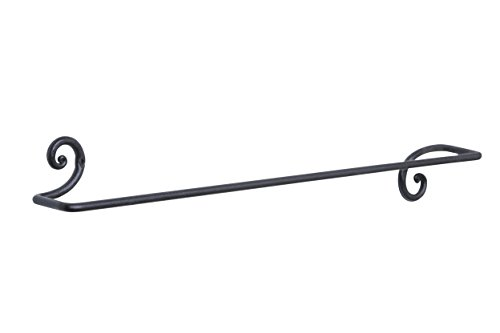 RTZEN Decorative Wrought Iron Towel Holder | Long Towel Bar Rack for Kitchen, Bathroom | Wall Mount Dish Towel Rod Hanger | Colgador Toallas Largo Hecho a Mano | Handmade Décor