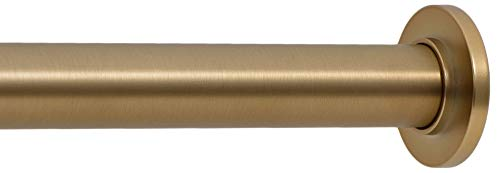Ivilon Tension Curtain Rod - Spring Tension Rod for Windows or Shower, 16 to 24 Inch. Warm Gold